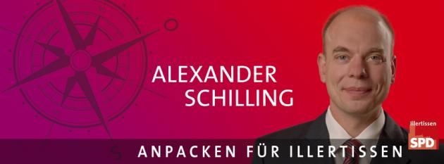 Banner Bürgermeisterkandidat Alexander Schilling